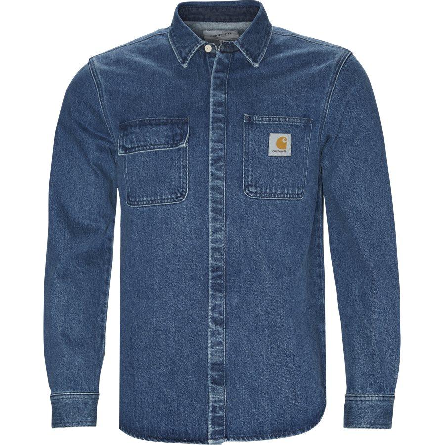 545a133ef3d SALINAC SHIRT I023977 - Salinac Shirt - Skjorter - Regular - BLUE STONE  WASHED - 1